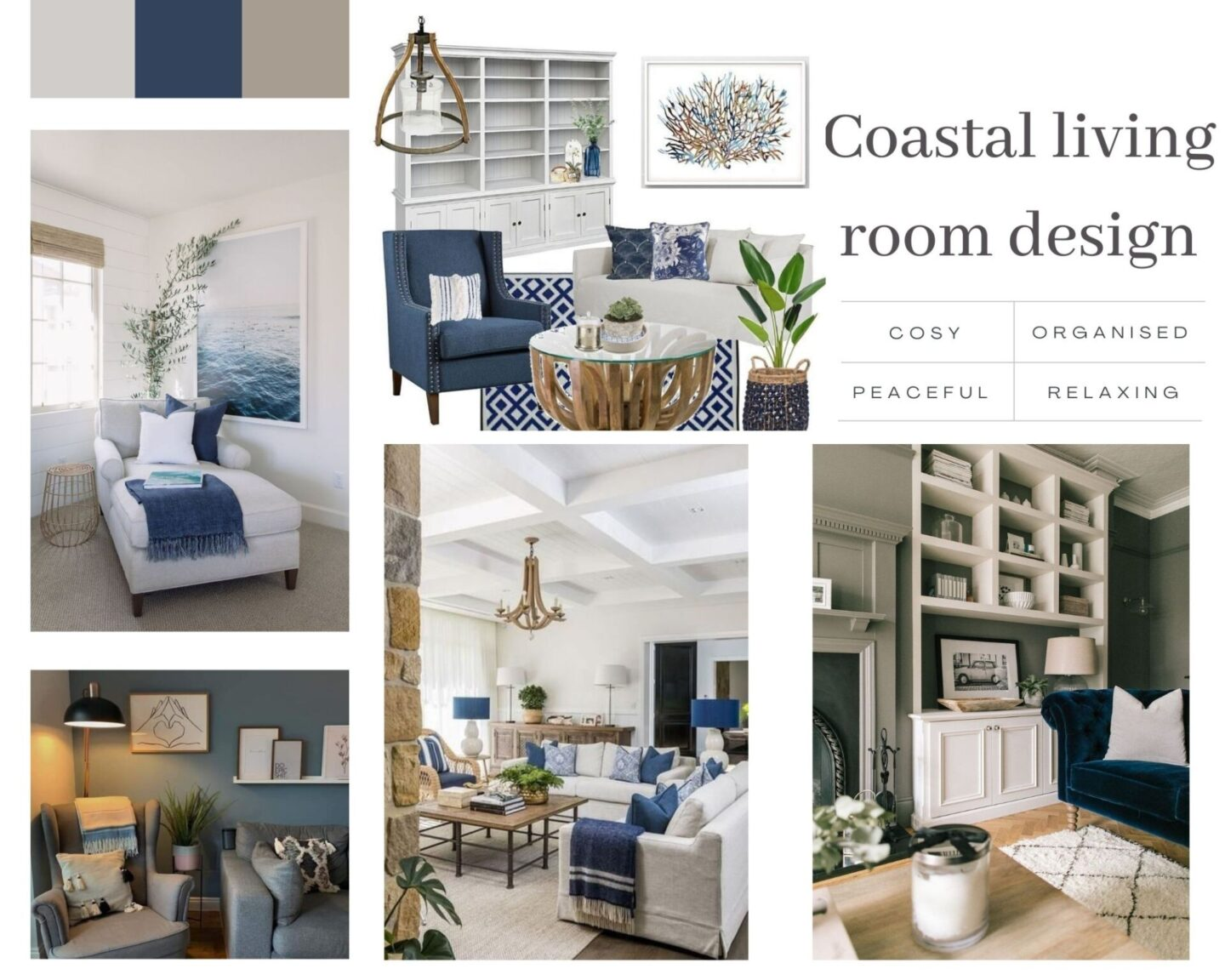 Redecorating our living room in a coastal colour palette