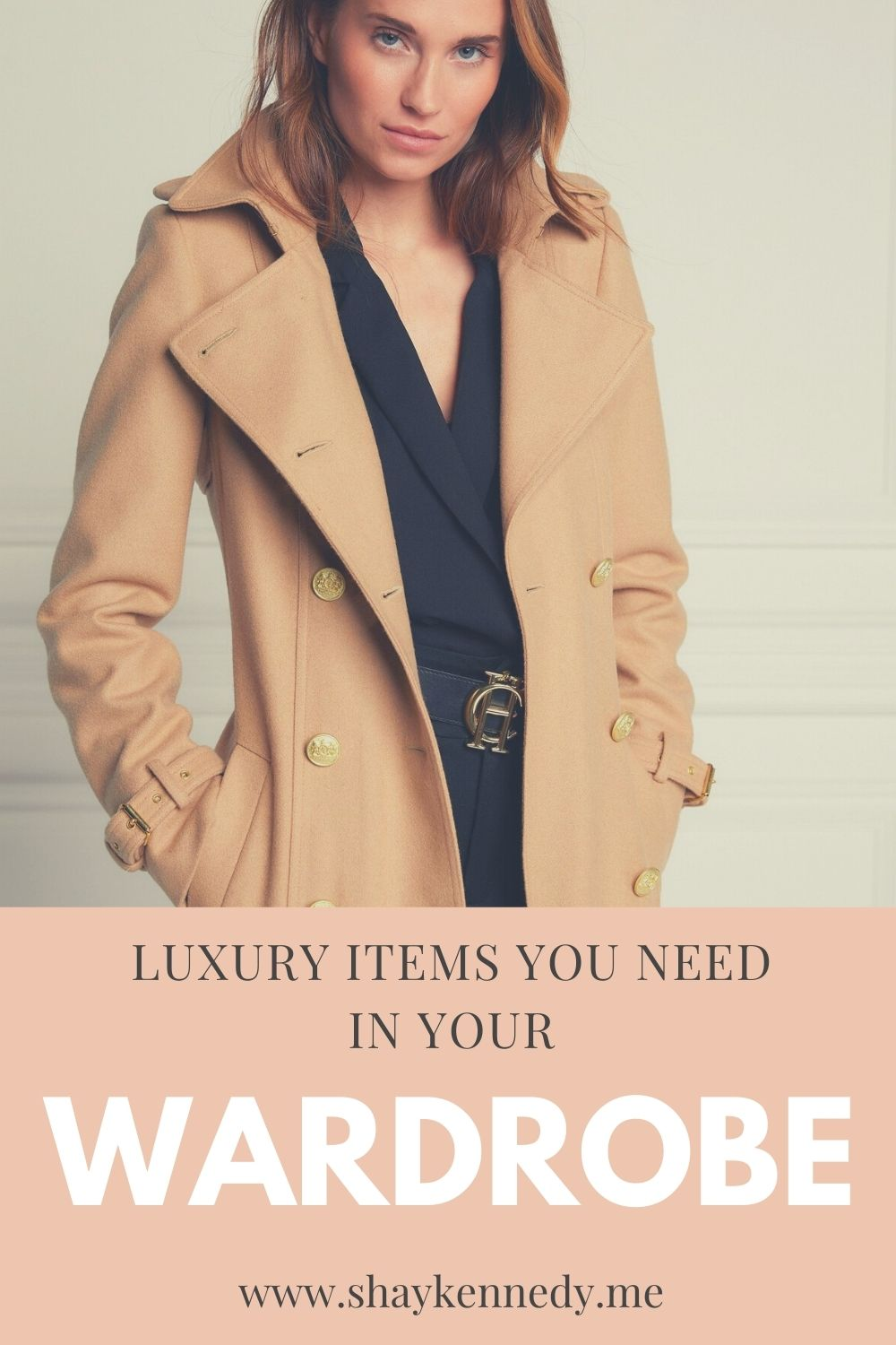 Pinterest Pin of luxury items you need in your wardrobe
