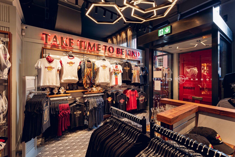 Hard Rock Cafe Newcastle gift shop